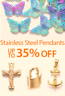 Stainless Steel Pendants Up to 35% OFF