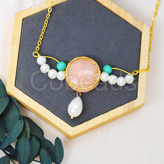Jewelry Tutorial on Wrapped Necklace