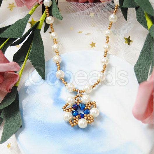 Cobeads Tutorial on How to Make a Beaded Necklace with Glass Pearl